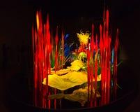 A instalação de vidro fundida Chihuly Fotos de Stock