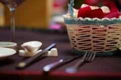 Instalação dinning elegante do tampo da mesa Imagens de Stock
