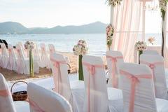 Instalação do casamento de praia Imagem de Stock