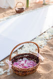 Instalação do casamento de praia Imagens de Stock Royalty Free