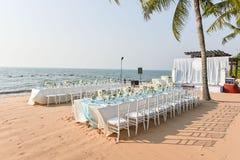 Instalação do casamento de praia Fotos de Stock Royalty Free