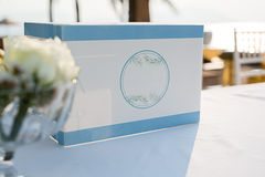 Instalação do casamento de praia Foto de Stock Royalty Free