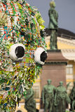 A instalação do elämät de Meren na noite do festival de artes o 25 de agosto de 2016 em Helsínquia, Finlandia Fotos de Stock Royalty Free