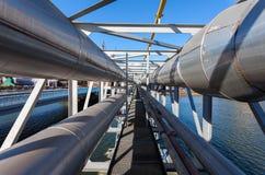 Tubulação industrial Fotografia de Stock