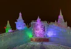 A instalação do Natal em Moscou - Rússia fotos de stock royalty free