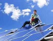 A instalação do painel solar Fotografia de Stock