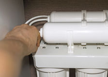 A instalação do sistema da purificação de água foto de stock royalty free