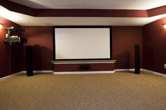 Instalação do teatro Home Imagem de Stock