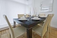 Instalação luxuosa da tabela de jantar imagens de stock