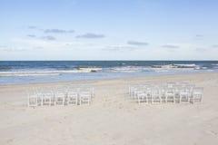 Instalação para o casamento do beira-mar Fotografia de Stock Royalty Free