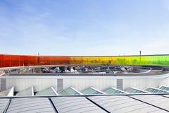 A instalação pelo olafur Eliasson sobre o museu de arte de Aarhus Fotos de Stock