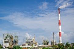 Instalação petroquímica em Tailândia Imagens de Stock Royalty Free