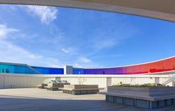A instalação por Olafur Eliasson no telhado do museu de arte de Aarhus Imagem de Stock
