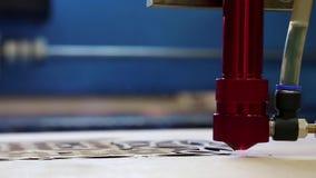 A instalação programável do laser cortou uma madeira filme