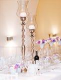 Instalação teble Wedding foto de stock royalty free