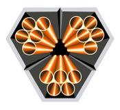 Instala tubos el logotipo Imagen de archivo