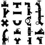 Instala tubos iconos Fotografía de archivo libre de regalías