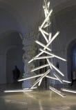 Instalación bajo el peso de la luz de Manfred Erjautz Imagen de archivo libre de regalías