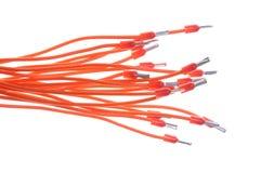 Instalación de cables eléctricos con los terminales Imagenes de archivo