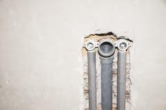 Instalación de la fontanería Foto de archivo libre de regalías
