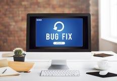 Instalación de la mejora de la actualización que pone al día lo más tarde posible concepto foto de archivo