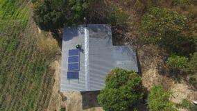Instalación de los paneles solares Fotografía de archivo