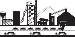 Instalación de producción del cemento Imagenes de archivo