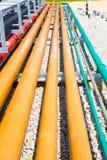 Instalación de tubos de muchos sistemas Fotos de archivo