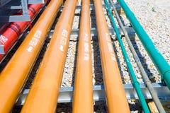 Instalación de tubos de muchos sistemas Imágenes de archivo libres de regalías
