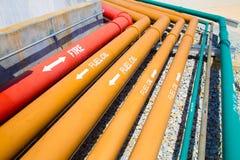 Instalación de tubos de muchos sistemas Fotografía de archivo