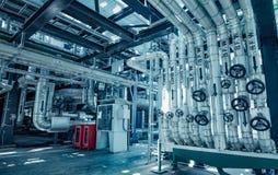 Instalación de tubos y equipo Imagen de archivo