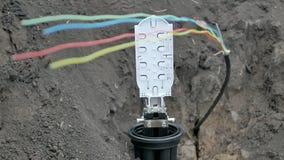 Instalación de un cable de Internet almacen de video