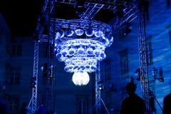 Instalación del arte de las bolas de discoteca en Zagreb, Croacia fotos de archivo libres de regalías