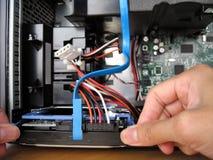 Instalación del disco duro Fotografía de archivo