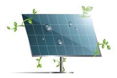 Instalación del panel solar Imagen de archivo libre de regalías