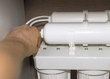 Instalación del sistema de la purificación del agua foto de archivo libre de regalías