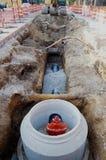 Instalación del tubo de agua Foto de archivo libre de regalías