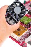 Instalación del ventilador Foto de archivo