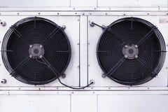 Instalaci?n dual de la fan del aire acondicionado industrial imágenes de archivo libres de regalías