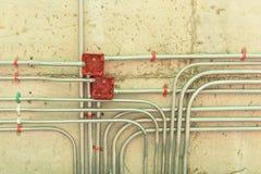 Instalación eléctrica de la red Fotografía de archivo