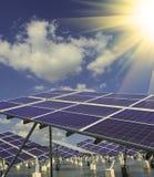 Instalación fotovoltaica industrial Imágenes de archivo libres de regalías