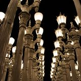 Instalación ligera en Los Ángeles Fotografía de archivo