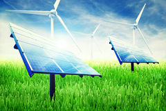 Instalación verde de la energía fotografía de archivo libre de regalías