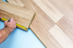 Instalación del piso Foto de archivo libre de regalías