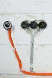 Instalación eléctrica Imagen de archivo libre de regalías