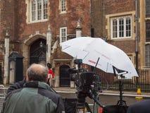 Instalaciones de la ubicación de las noticias de la BBC Fotos de archivo