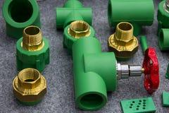Instalaciones de tuberías de PPR Fotografía de archivo
