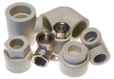Instalaciones de tuberías para el agua Fotos de archivo libres de regalías