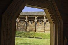 Instalaciones defensivas viejas Fotos de archivo