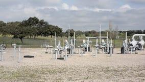 Instalaciones del gas natural Fotos de archivo libres de regalías